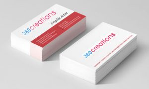 Printing of business cards and stationery