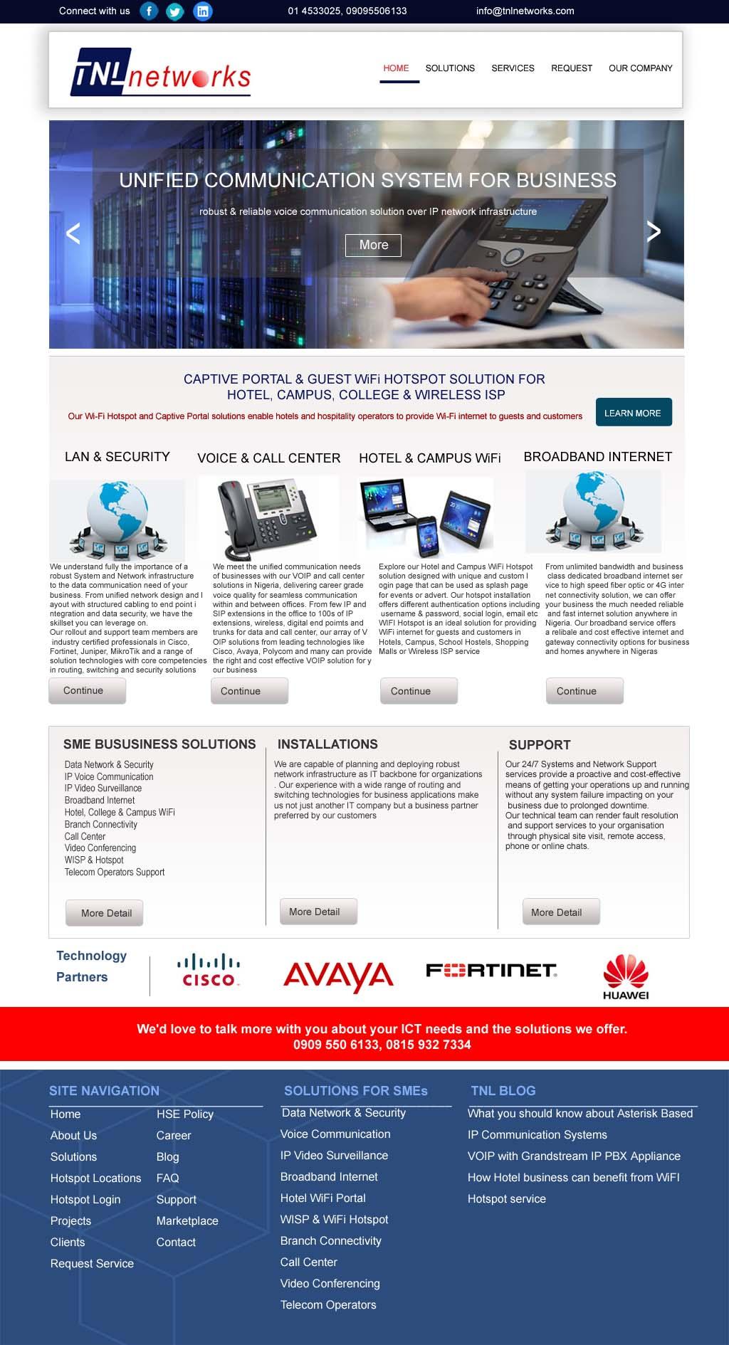 tnl networks website design